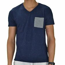 CROSSBY - T-SHIRT MANCHES COURTES - HOMME - MONTY - NAVY CHINÉ NEUF