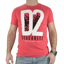 DSQUARED2  TSHIRT MANCHES COURTES  HOMME  BIG D2  ROUGE NEUF GRADE A