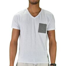 CROSSBY - T-SHIRT MANCHES COURTES - HOMME - MONTY - BLANC CHINÉ NEUF
