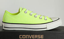 NUOVO CONVERSE Chucks All Star Low NEON GIALLO Scarpe 136585c tgl 44 uk10
