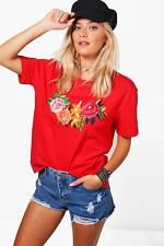 Boohoo Hayley Embroidered Oversized Tee para Mujer