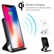 Qi Wireless Charging Charger Dock Pad+Receiver For iPhone X 8 7 6 SE 5S Samsung
