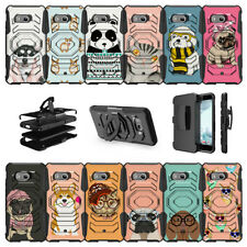 For HTC U11 | HTC U 11 | HTC Ocean (2017) Clip Stand Armor Case - Cute Animals