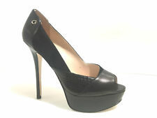 SCARPE DONNA DECOLLETE SPUNTATO GUESS TC 110 PL 30 PATCH NERO MOD REBA D17GU10