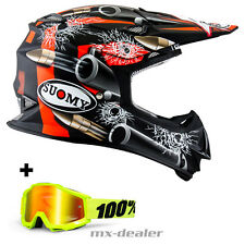 SUOMY Mr. Jump BALA NEGRO CASCO CROSS Casco MX Motocross Cross MIT 100% Gafas