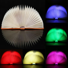 Plegable LED 5 Colores Luz de Noche Lámpara Libro USB Recargable Desk Booklight