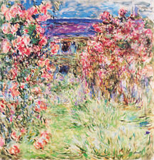 Claude Monet The House Among the Roses 1917 Vintage Fine Art Wall Canvas Print