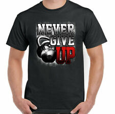 MAI Give Up Uomo Allenamento con i pesi T-SHIRT Top Palestra Bodybuilding Mma