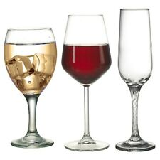 Pasabahce Set of 6 Red or White Wine Glasses Champagne Flutes Dinner Glassware