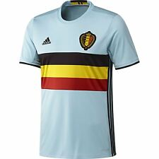 ADIDAS BELGA AWAY JERSEY 16-17 BLU S M L XL CALCIO FOOTBALL EURO Uomo