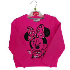 KIDS GIRLS MINNIE MOUSE SWEATSHIRT PINK JUMPER CHILDRENS DISNEY TOP CLOTHES 2-8