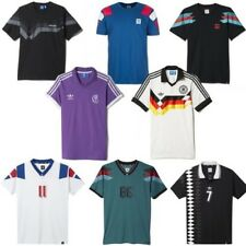ADIDAS originaux rétro FOOTBALL maillots FRANCE ALLEMAGNE ESPAGNE REAL MADRID