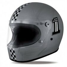 Casco moto Integral Premier Trophy CK One Old Estilo Plata