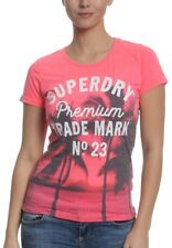 Superdry Maglietta DONNE Photographic ENTRY Fucsia Neon MARNA