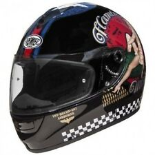 Casco da moto Integrale Premier Monza Pin-Up 9 Nero lucido