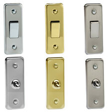 Varilight 1 Gang 10A 1/2 Way Rocker & Toggle Architrave Switches Various Colours