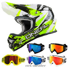 O'NEAL 3Series CHOQUANT jaune néon CASQUE CROSS MX MOTOCROSS Traverser HP7