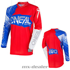 O'NEAL Element Burnout azul rojo jersey camiseta conductor MX Motocross MTB DH