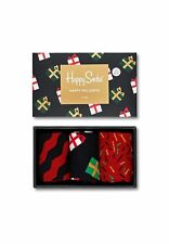 Happy Socks Caja de regalo Feliz Holidays xmas08-7001 Rojo Negro