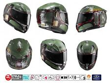 CASCO HJC RPHA 11 INTEGRALE IN CARBONIO FIBRA DI VETRO STAR WARS BOBA FETT MC4SF