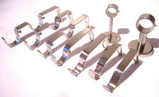 Stainless Steel Curtain Pole Bracket Brackets 19mm 28mm Double Passing Ceiling