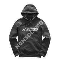 Felpa Fleece Cotone Uomo Moto, Cross, Quad, Enduro Alpinestars Blaze Nero