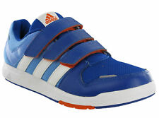 Adidas LK Trainer 6 CF Junior Kids Velcro Blue Sports Fitness Casual Trainers