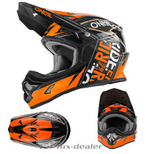 O'NEAL 3series combustible Naranja Negro Casco de Cross Quad Mx Motocross S M L