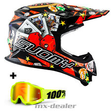 SUOMY MR.JUMP JACKPOT NERO CASCO DA CROSS MX MOTOCROSS CROSS 100% OCCHIALI