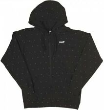 NEFF FELPA DOTTED ZIP UP HOODIE BLACK