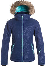 ROXY JET SKI JACKET SOLID BLUE PRINT