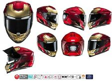 CASCO HJC RPHA 70 MARVEL IRONMAN IRON MAN INTEGRALE DOPPIA VISIERA IN FIBRA