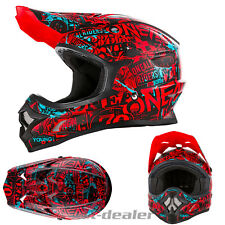 Oneal 3series Attack Negro Rojo CASCO CROSS MX Motocross Enduro Bmx DH Quad