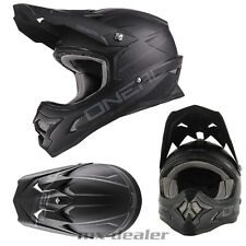Oneal 3series FLAT NEGRO CASCO CROSS Casco MX Motocross Enduro Bmx DH MTB Quad