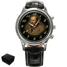 FYODOR DOSTOYEVSKY RUSSIAN WRITER  LARGE WRIST WATCH GIFT ENGRAVING
