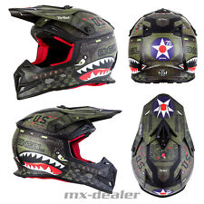 Oneal 5Series Warhawk NERO VERDE CASCO CROSS CASCO MX motocross cross enduro