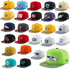 New Era Cap 9FIFTY SNAPBACK NFL linea laterale 2017 Seahawks Patriots RAIDERS