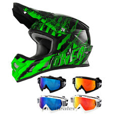 O'NEAL 3series Mercury VERDE CASCO CROSS MX Motocross S M L XL HP7 Gafas Quad
