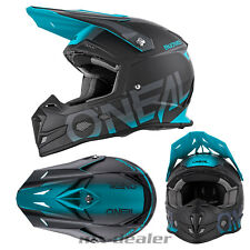 Oneal 5 Series Bloqueador negro Teal Azul CASCO CROSS mx motocross enduro