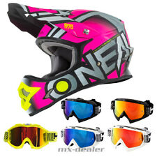 O'NEAL 3Series RADIUM opaco fucsia CASCO CROSS MX motocross occhiali da enduro