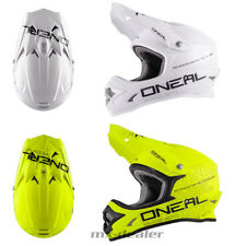 O'NEAL 3Series FLAT BIANCO OPACO GIALLO NEON CASCO CROSS MX motocross S M L XL