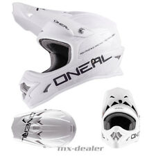 O'NEAL 3Series FLAT BIANCO OPACO CASCO DA CROSS QUAD ENDURO MX motocross S M L