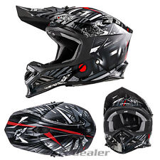 O'NEAL 8 Series synthy Negro CASCO CROSS CASCO mx motocross cross enduro GoPro
