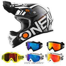 O'NEAL 3Series RADIUM opaco grigio CASCO CROSS MX motocross occhiali da enduro