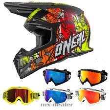 O'NEAL 5Series VANDAL NEON CASCO CROSS MX motocross HP7 OCCHIALI ENDURO