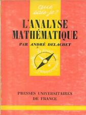 L'ANALYSE MATHEMATIQUE SCIENZE/TECNICA DELCHET, ANDRE'