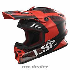 LS2 LS 2 MX 456 hpfc MX CASCO DA CROSS ENDURO MOTOCROSS RALLY ROSSO BMX DH LUCE
