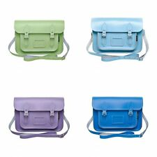 Zatchels - Borsa in Pelle Fatta a Mano - Colori Pastello - Satchel British Made
