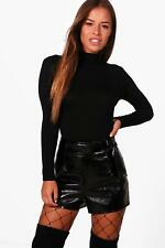 Boohoo Petite Hollie Turtle Neck Long Sleeve Bodysuit para Mujer