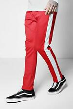 Boohoo Skinny Fit Panel Joggers With Elongated Drawcord para Hombre